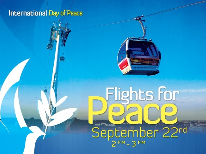 Flights for Peace across the Thames on Sunday 2-3pm