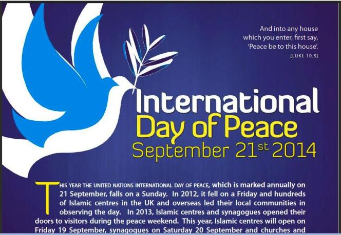 Peace flyers for 19, 20, 21 September!