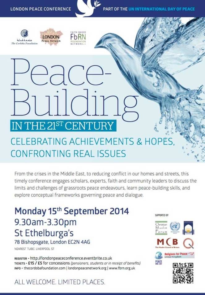 Peace-building in the 21st Century | London 15 September