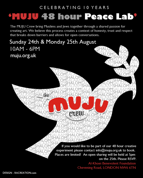 MUJU 48 hour Peace Lab | 24-25 August | NW London
