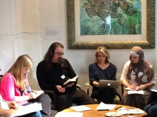 Keith Kahn-Harris (2nd left) at grassroots workshop