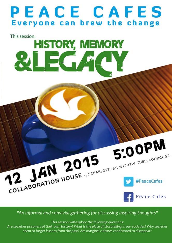 History, memory, legacy – 12 January PeaceCafé