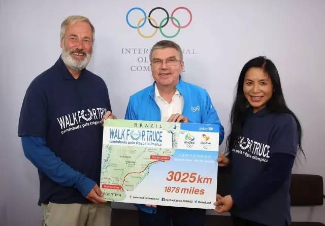 Lord Bates completes Walk for Truce from Buenos Aires to Rio